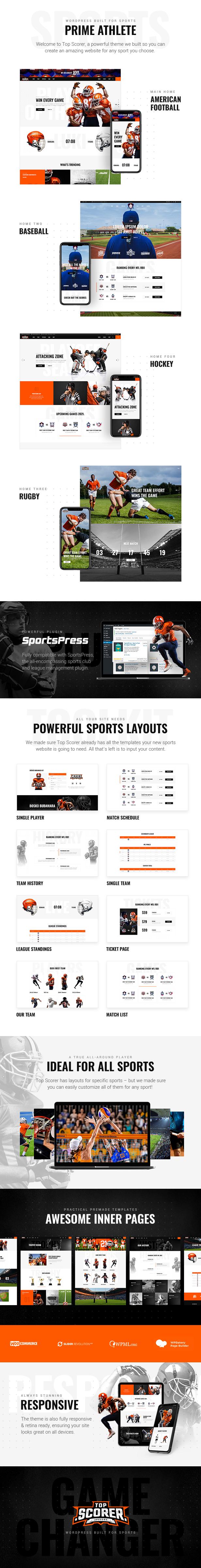 TopScorer - Sports WordPress Theme - 1